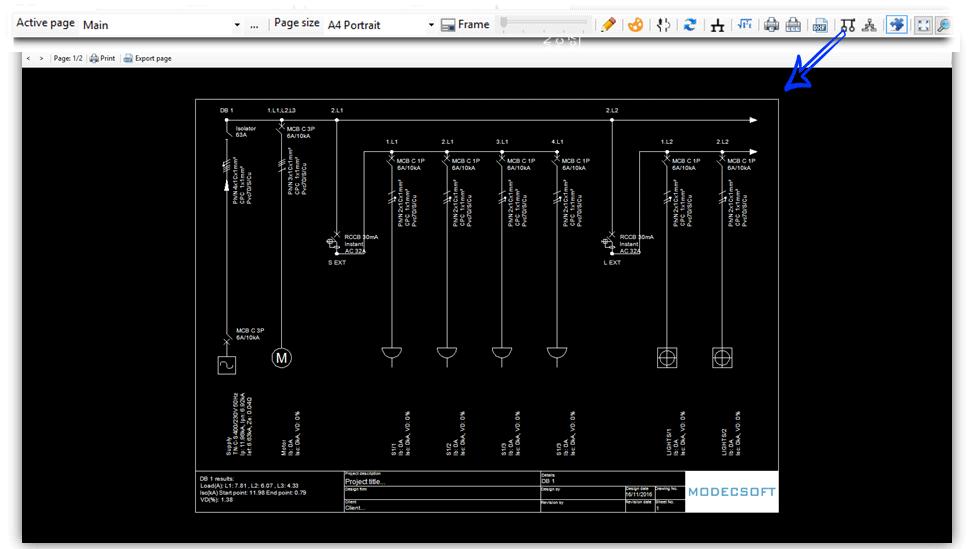 ElectricalOM Db single line