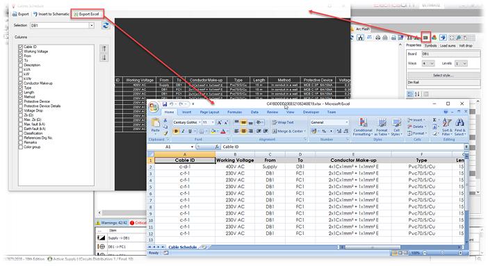 Schedules Export to Excel