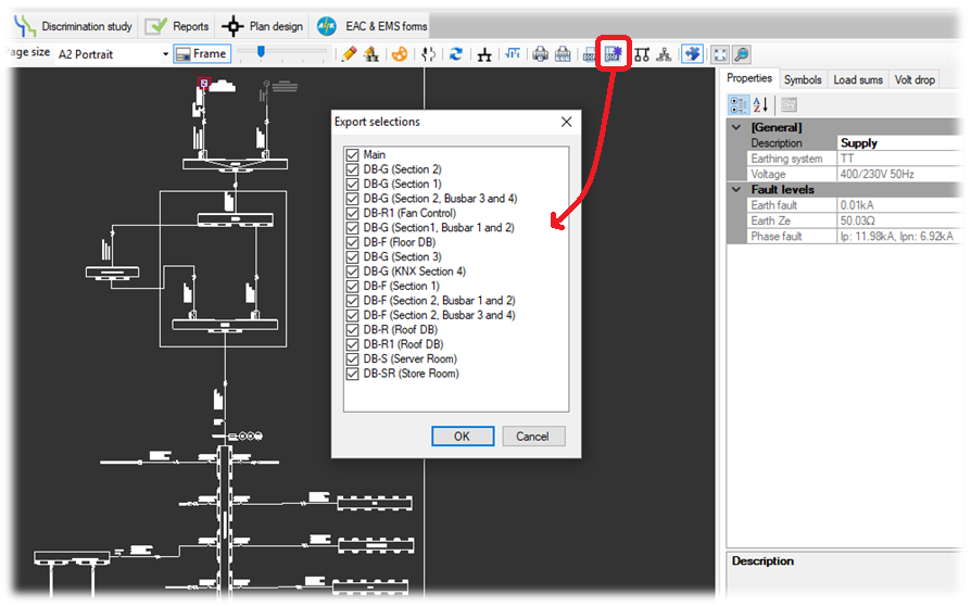 Multipage export schematic