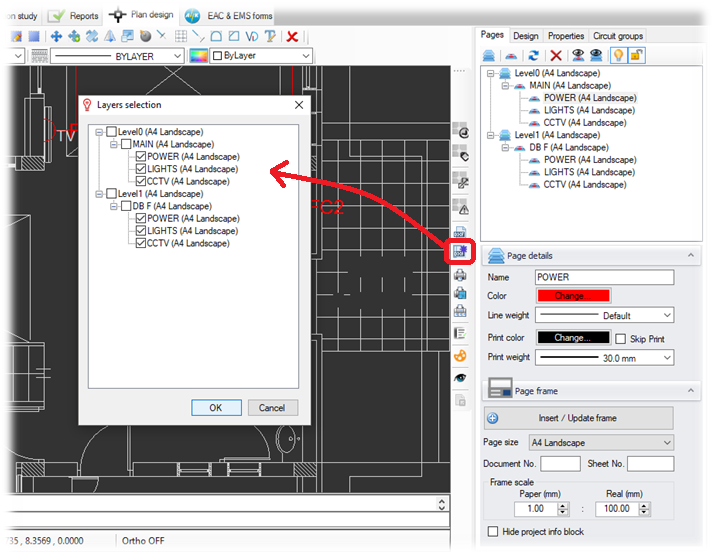 Multipage export