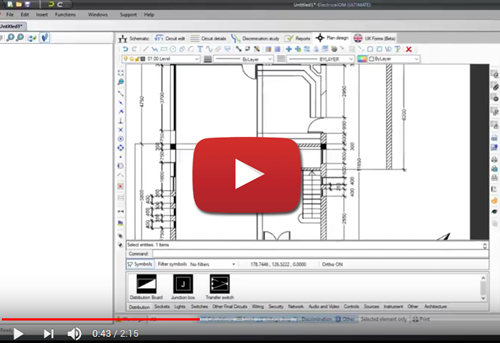 Electricalom electrical design and circuit calculation for Site plan drawing software